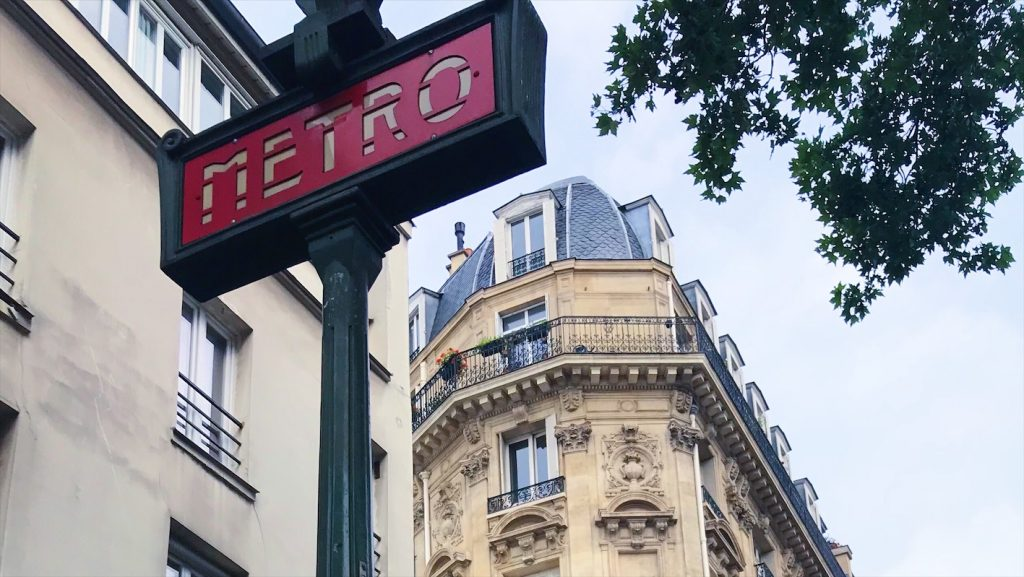 Photo of Paris metro sign