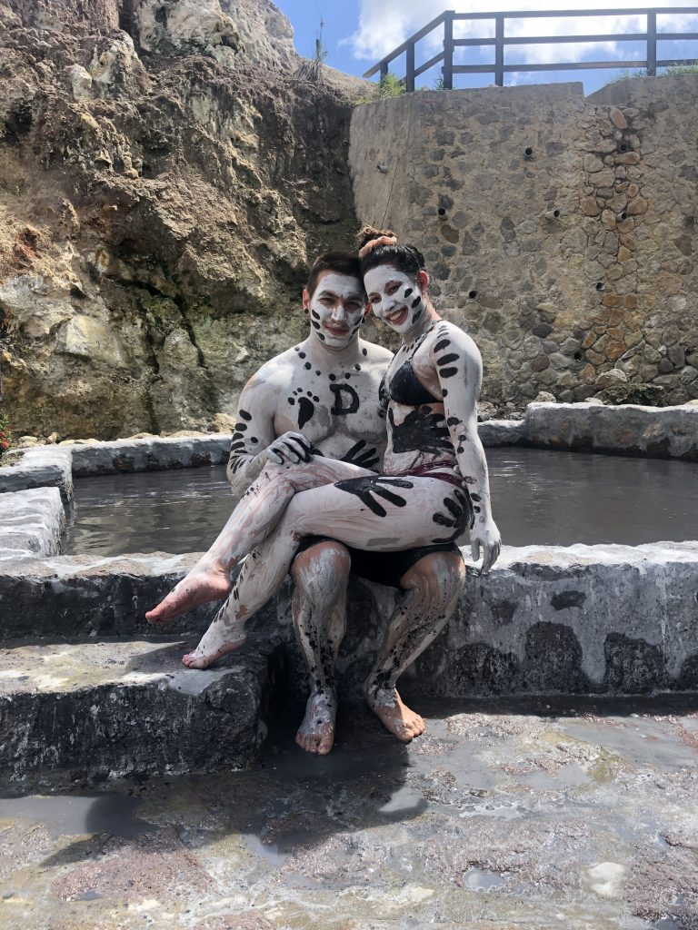 Couple at Mud Bath in St. Lucia